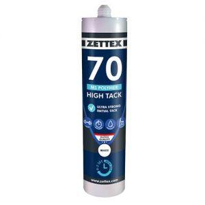 Zettex Polymer High Tack MS70 290 ml, zwart, doos à 12 stuks